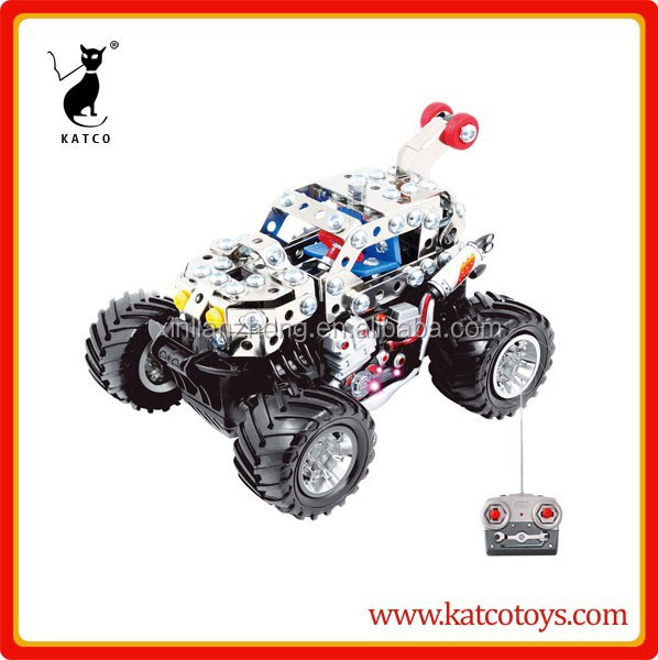 Magical model DIY self assembly rc metal car ,rc vehicle toys DIY car for kid