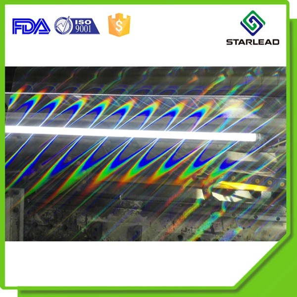 Laser crystal cold lamination BOPP film Metalized PET hologram film transparent PVC holo film