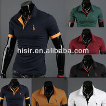 2014 Men Stylish Slim Short sleeve Casual POLO Shirt T-shirts Tee Tops