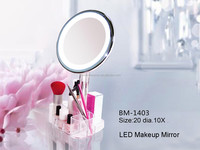 Desktop vanity mirror with lights 5x