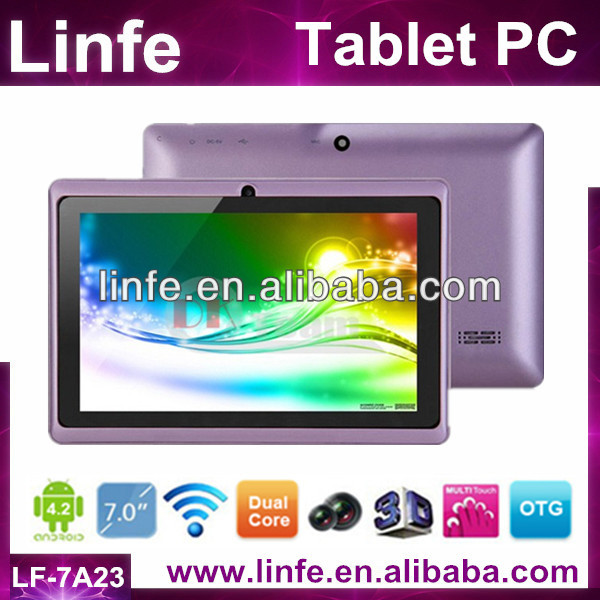 Cheap 7 Inch Tablet Pc/Android 4.2 Tablet Pc/CPU Dual core A23/G-sensor