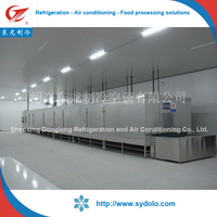 fish fillet sea food quick freezing processing plant iqf freezer frozen using type iqf tunnel freezer