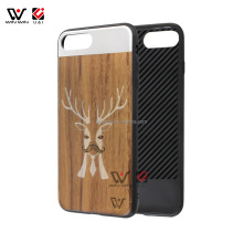 blank wood case for iphone,real wood color case for mobile phone,metal with wood case for mobile phone
