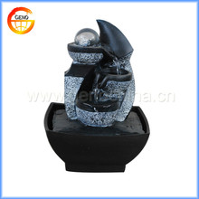 Buddha Indoor Water Fountain with LED Light Feng Shui
