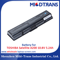 Laptop spare parts replacement battery for TOSHIBA Satellite A200 10.8V 5.2Ah