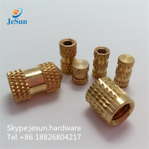 Brass knurled nut heat ultrasonic inserts straight hole series