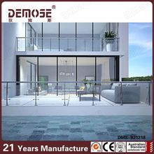 Nice indoor glass railing /balcony railing designs/mild steel railing for staircase ISO9001 Factory