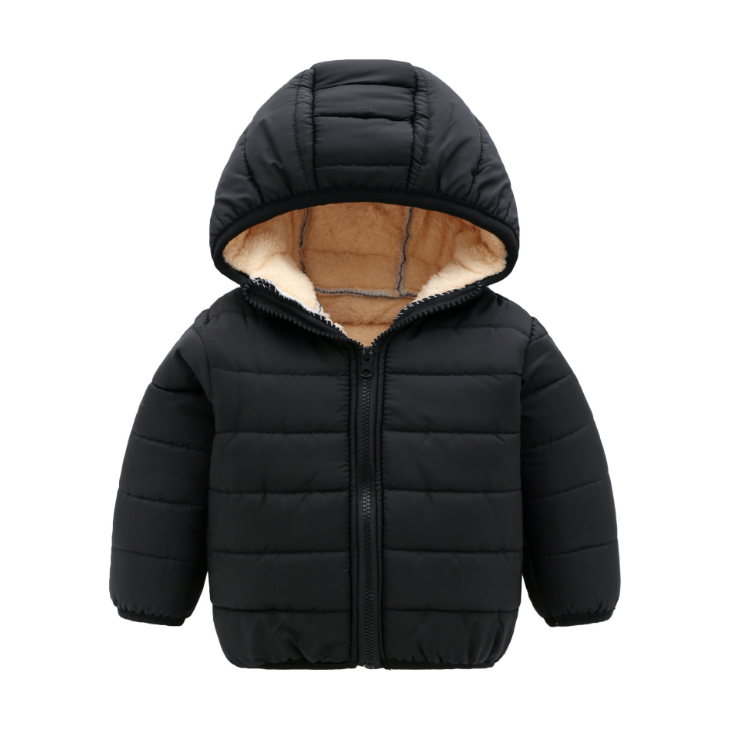 Children quilted jacket thickening warm and light clothing for both boys and girls