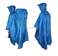 Outdoor Waterproof Breathable Backpack Bicycle Towel Surf Raincoat Poncho With Sleeves