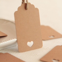 Cute Heart Shape Logo Paper Invitation Card Wedding Card