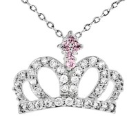 wholesale price cz stone fashion boy and girl pendant necklace