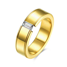 Surgical steel engagement rings for men gold steel ring jewelry