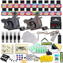 Free Shipping Wholesale Tattoo Kit Dragonhawk 2 Guns Tattoo Kit