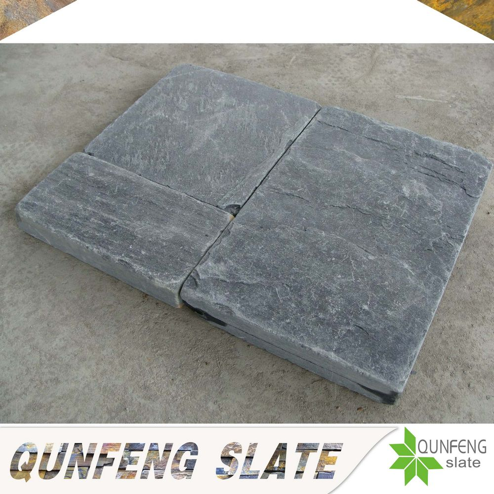erosion resistance antacid natural black slate pieces tumbled stone floor tile