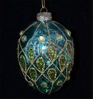 Royalblue olive shape novelty christmas baubles as ornament and decoration hanging on xmas tree