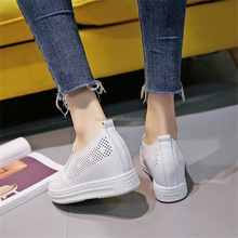 The Latest Design Summer Mesh Thick-heeled Women Shoes 2017