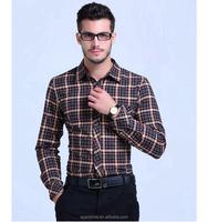100% Cotton Men plaid shirts Original Brand New 2016 long sleeve shirt for Spring Autumn military style mens shirts