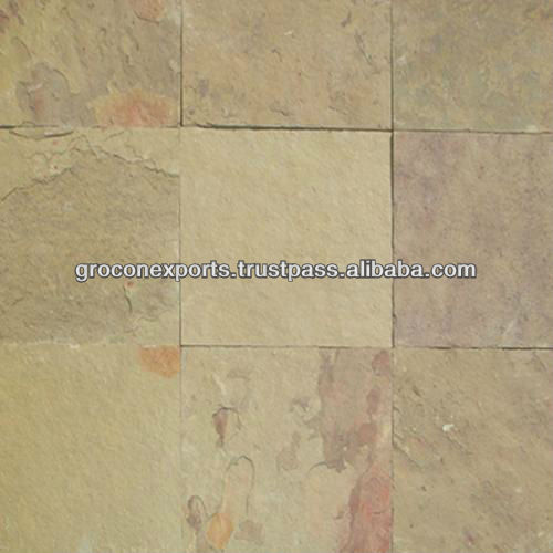 Yellow Multi Color Natural Slate