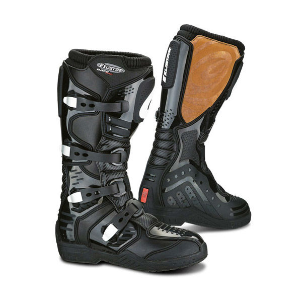 Hi-tech microfiber leather motorcycle black boots