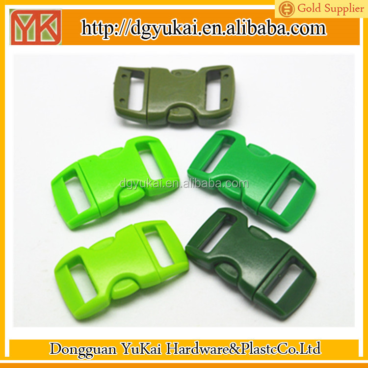 10mm curved shape buckle,3/8 curved side release buckles,plastic buckle for strap