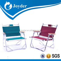 armrest folding beach chair with footrest,fold up chair with cupboard,camping chair with printed