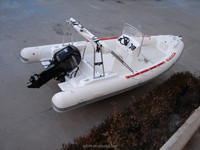 6.8m inflatable electric cheap motor new fishing boat for sale