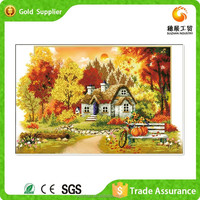 Short Lead Time Interior Decoration Gifts and Crafts Natural Scenery Painting Fadeless Diamond Cross stitch Kit