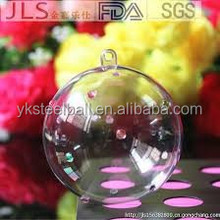 Yuanke large clear acrylic transparent outdoor hollow plastic christmas balls