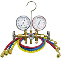 Brass manifold gauge set gas pressure gauge