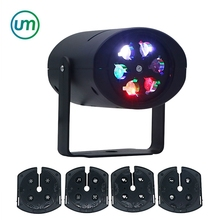 Christmas Lights LED Projector Snowflake Moving Landscape Xmas Outside Decor With 2/4 Film Cards