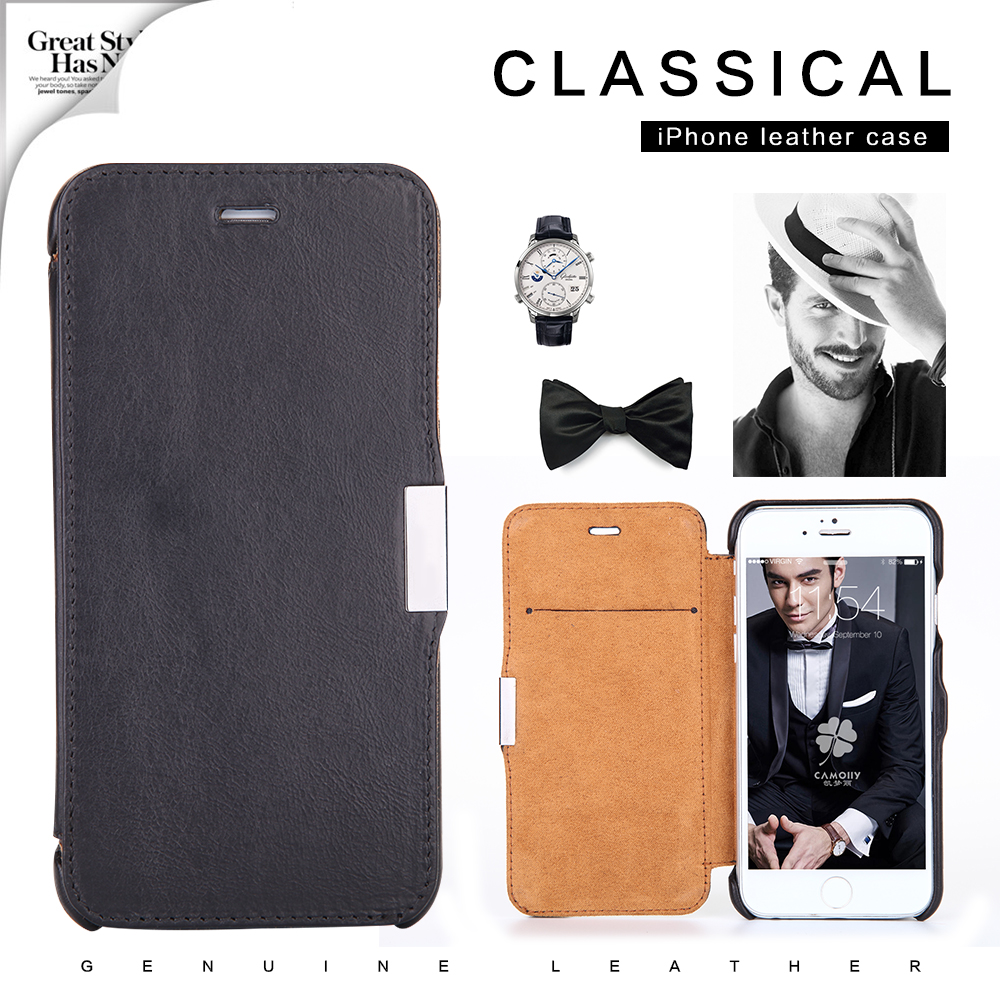2016 phone case supplier custom newest cell phone genuine leather mobile case for iphone 5 5s