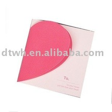 2013 new heart shaped Lovely wedding card