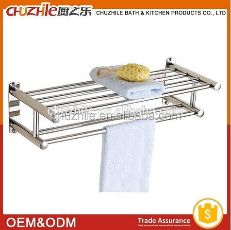 High quality folding wall mounted aluminum towel rack for bathroom