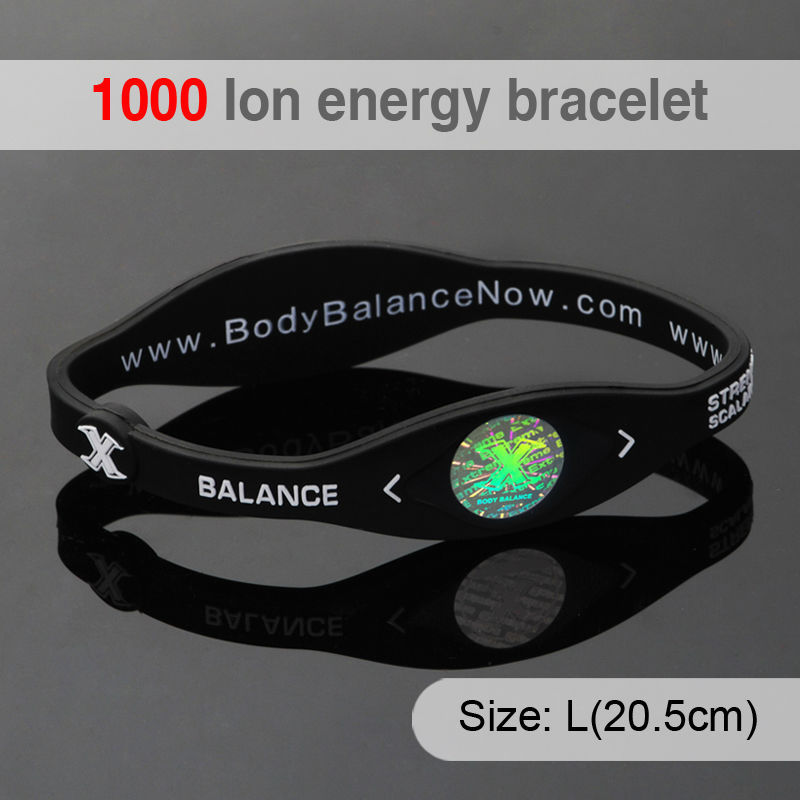 Hottime Bio Elements Energy 1 inch Colorful Fashion Silicone Wrist Adjustable Balance Band