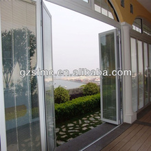 double swing door with shutter control system