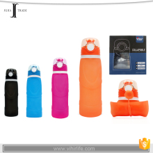 JJ-GK152 750ml silicone Compression water bottle for out door