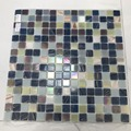 Blended blue glass mosaic for swimming
