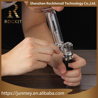 Newest electric smoking pipe device Rockit dabber e-rig wax vaporizer with glass pipes wholesale