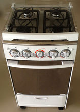 new kind free standing gas oven with glass/metal /backboard