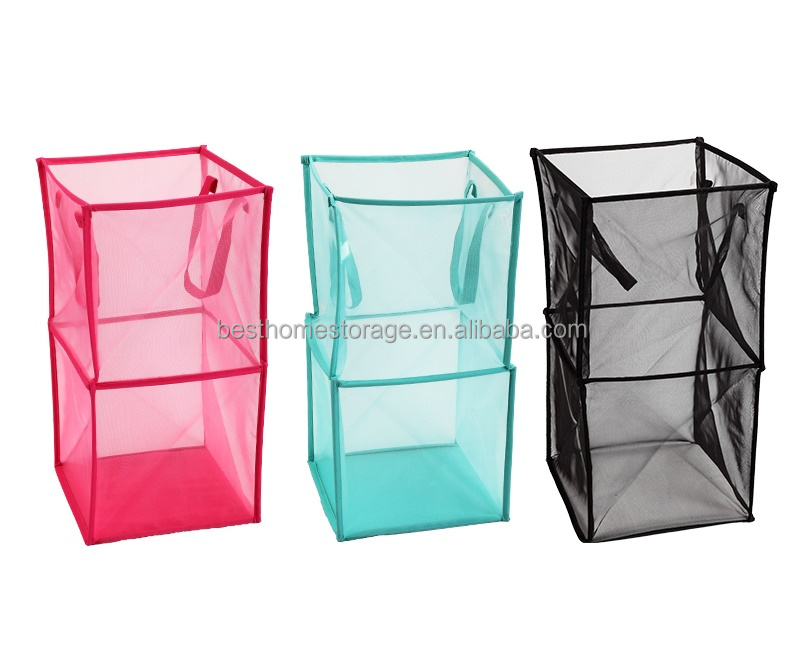Collapsible Folding Polyester Mesh Laundry Basket Buy Folding Mesh Laundry Basket Folding