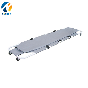 AC-FS021 emergency rescue products grey color mortuary folding stretcher with wheels prices