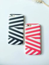 fashionable full protective fancy stripe pattern tpu phone case for iphone 6 / 6 plus