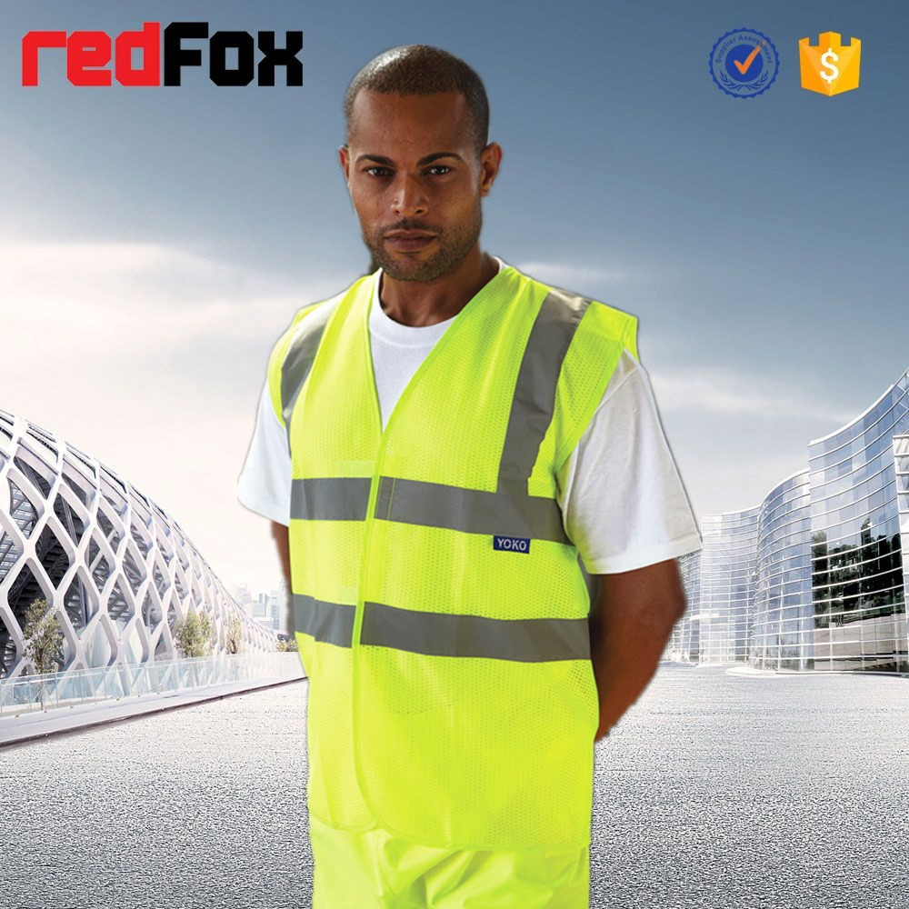 HVW103 High Visibility reflective safety Waistcoat