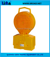 Two PCS 6V 4R25 Battery Solar Traffic Barricade Light