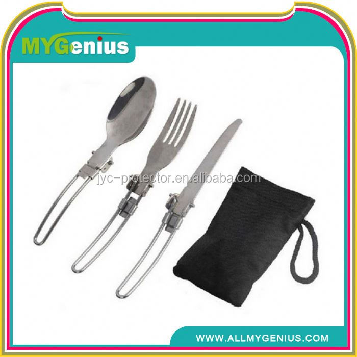 stainless steel camping set ,Y021, portable travel cutlery