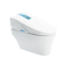 White ceramic elongated electric toilets with built-in bidet