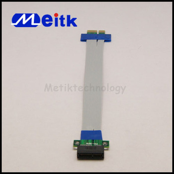 PCI-E Riser 1X Slot Card Extender Ribbon Extension Cable with High Quality