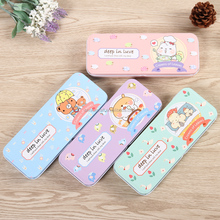 cheap lovely designs OEM two layer metal tin pencil case DMA003