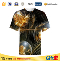 New 2015 polyester fiber short sleeve custom design printed t-shirts sublimation printing t-shirt