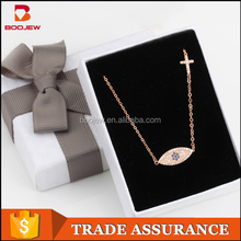 China Professional Supplier new design initial jewelry nickel and lead free cross pendant necklace